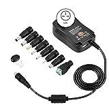 Domeilleur 3–12V 12W verstellbar Power Adapter Kabel Stecker Ladegerät für LED-Licht Mini TV Auto Elektrische Spielzeug, UK Plug