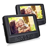 DVD Player Auto tragbarer Fernseher mit 2 9 Zoll Monitore für Mama Kinder hinter Kopfstützen mit TFT Display LCD Bildschirm zwei Halterung unterstützt USB SD für Flug Urlaub Camping Zuhause Schwarz CUtrip