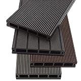 Home Deluxe WPC Terrassendiele | 4 verschiedene Farben | verschiedene Flächen | (1 m², Hellgrau)