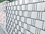 Zaunblende PVC Easy 0,19 x 2,55m weiß - RAL 9010 Sichtschutzstreifen Sichtschutzzaun PVC Kunststoff Zaun Streifen DSM