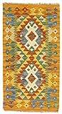 CarpetFine: Kelim Afghan Teppich 54x84 Orange - Geometrisch