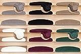 Stufenmatte Vorwerk Miramar, Luxuriöser Treppen-Teppich Halbrund in versch. Farben und Stückzahlen | Hellgrau 1 Stück