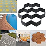 Picturer7 Sechseck Form Pflasterstein Formen, DIY Terrasse Walk Maker Stepping Stein Beton Maschine Form, Wiederverwendbar Path Maker Form, Garden Pflasterstein Formen
