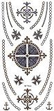 Flash Tattoos in Gold und Silber Hautschmuck Ringe Flügel 20 tlg. M-T012