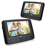 2 9 Zoll Auto Monitor DVD Player Tragbarer TV System mit Bildschirm Fernbedienung KFZ unterstützt USB SD für Kinder zu Urlaub Camping Zuhause Schwarz