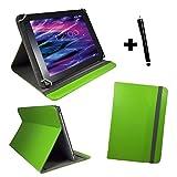 Tablet Tasche für Wortmann AG Terra PAD 1003 Schutz Hülle Etui Case + Touch Pen - 10.1 Zoll Grün