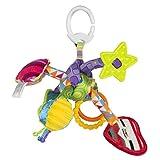 Lamaze Baby Spielzeug Knuddelknoten Clip & Go |  Hochwertiges Kleinkind Spielzeug | Greifling Anhänger ideal für Kinderwagen & Maxi Cosi | Ab 0 Monate