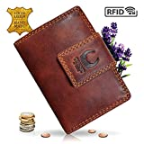 e6ef82902d1c1 Geldbörse Damen Leder I Geldbeutel mit RFID Schutz I XXL Portemonnaie aus  Echtleder I Travel Organizer