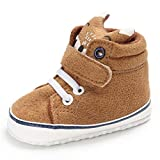 Schuhe Baby Xinan Kleinkind High Cut Sneaker Anti-Slip Soft Sole Shoes (6-12 Monate, Khaki)