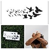 Tattify Vogel Herde Temporäre Tattoos- Wind Lieder (Set mit 2)