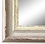 Spiegel Wandspiegel Badspiegel Flurspiegel Garderobenspiegel - Über 200 Größen - Trento Beige Silber 5,4 - Außenmaß des Spiegels 40 x 60 - Wunschmaße auf Anfrage - Antik, Barock