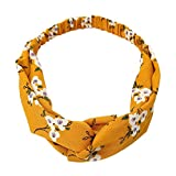 5fef9486be2f2f Xmiral Damen Haarband Floral Twist Knoten elastische Wrap Turban Haarband  Damen Yoga Sport Stirnband (J