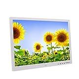 LKJCZ 17-Zoll-Touchscreen-Taste Digital Photo Frame Elektronisches Album HDMI HD 1080P TV-Werbemaschine-mit 1440 * 900 HD-Auflösung,White
