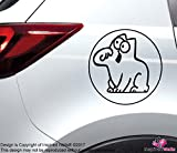 Simons Cat Schwarz Funny Sticker Aufkleber for Autos Trucks Vans Glass Home by Inspired Walls