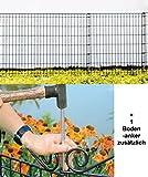 Teichzaun Ambiente 76/80 cm. PLUS zusätzlichen Bodenanker
