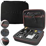 mtb more energy Schutztasche XL für Rollei Action Cam 430, 425, 420, 415, 410, 400, 350, 333, 300(+), 240, 230, 220 / 7S Wifi, 6S, 5S - Schwarz - Koffer Case Stecksystem Modular