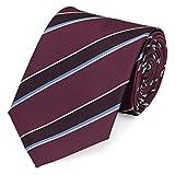Fabio Farini Krawatte 8 cm klassiche Breite verschiedene Farben, Verschiedene Krawatten 8cm:dunkelrot gestreift;Verpackung für die Krawatte:ohne Geschenkverpackung