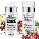 VSADEY Retinol Creme Moisturizer Retinol Feuchtigkeitscreme für Gesicht, Tag und Nacht, Anti-Aging Gesicht Feuchtigkeitsspendend Nachtcreme & Antifalten Feuchtigkeitspflege mit 2,5% Aktiv Retinol 50ml