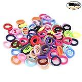 Elastische Haargummis, Zoylink 100 Stück Haarbänder Pferdeschwanz Inhaber Bobbles Bands für Mädchen Kleinkind Baby Kinder
