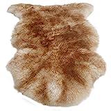 Merino Lammfell Schaffell geflammt stracciatella Größe XL echtes Fell