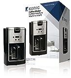 König KN-COF10 Kaffeemaschine 900 W 12 Tassen Schwarz/Silber