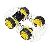 Roboter Bausatz, The perseids Arduino Smart Robot Car Kit, Intelligente Auto Roboter Chassis mit Geschwindigkeit Kodierer 1: 48 für Erwachsene und Kinder(4 WD)