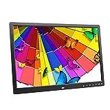 LKJCZ 17-Zoll-Touchscreen-Taste Digital Photo Frame Elektronisches Album HDMI HD 1080P TV-Werbemaschine-mit 1440 * 900 HD-Auflösung,Black