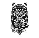 Cdet 1x Tätowierung Temporäre männer Frauen Arm Temporäre Tattoos Brustaufkleber Aufkleber Körperkunst Kleine Körper Tattoo Aufkleber Size 21 * 15cm (Eule)
