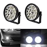 Motoeye H05 LED Tagfahrlicht Rund 90 MM Dimmable Auto Led DRL 18 SMD