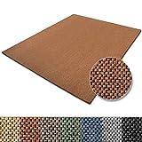 Teppich Sabang | viele Farben und Größen | Flachgewebe, Sisaloptik | Qualitätsprodukt aus Deutschland | GUT Siegel | für Wohnzimmer, Kinderzimmer, Flur etc. (terra, 200x300cm)