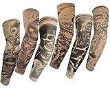 HaimoBurg 6 Stück Temporäre Gefälschte Slip Tattoo Tattooärmel Arm Strümpfe
