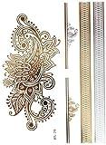 Gold Flash Tattoo Bling Body Tattoos Silber Ornament Armbänder Rücken YS-29