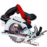 Einhell Akku Handkreissäge TE-CS 18/165 Li-Solo Power X-Change (Li-Ion, max. Schnitttiefe 54mm, werkzeuglose Einstellung von Schnitttiefe + Neigungswinkel, Spindelarretierung, ohne Akku und Ladegerät)