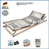 Ravensberger Matratzen Medimed Lattenrost | 7-Zonen-Buche-Lattenrahmen | 44 Leisten| verstellbar| MADE IN GERMANY - 10 JAHRE GARANTIE | TÜV/GS 90x200 cm