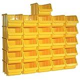 26 Profi Lager-Sichtboxen PP Größe 3 in Farbe Gelb