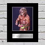 Die Ultimate Warrior montiert Foto Display WWE