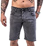 Rock Creek Herren Shorts Jeansshorts Denim Stretch Sommer Shorts Regular Slim [RC-2135 - Grey Wash - W34]