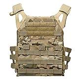Xinwcang Tactical Weste Herren, Kampftraining Taktische Einsatzweste für Camping Wandern CS Feld Outdoor Funktionale Vest One Size