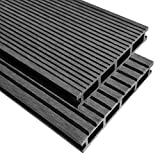 XINGLIEU Baustoffe WPC Terrassendielen mit Zubehör 26 m2 2,2 m grau Terrassendielen mit unterschiedlichen Mustern auf jeder Seite