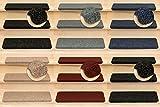 Kettelservice-Metzker Stufenmatten Ramon in verschiedenen Set Varianten | Rechteckig | 65x24x3,5cm | Anthrazit 20 Stück