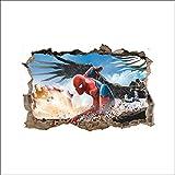 JUNMAONO 3D Spiderman Wandaufkleber/Wandgemälde/Wand Poster/Wandbild Aufkleber/Wandbilder/Wandtattoo/Tapete/Tapezieren/Tapeten/Wand Zeitung/Instant Aufkleber