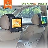 WANPOOL Auto Kopfstützen Halterung für die meisten 7-10 Zoll tragbaren DVD-Player mit schwenkbaren Monitor - 2 Stück