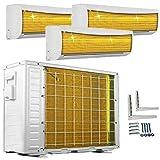 A++/A++/A++ TrioSplit Golden-Fin 9000+12000+12000 BTU MultiSplit Klimaanlage INVERTER Klimagerät und Heizung WiFi-Ready