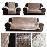 HDM Soft-Touch 2-Sitzer 167x112 cm Sofaüberwurf Sesselschoner Sofaschoner Sesselschutz Kindersofa Decke aus 100% PP Baumwolle in Weinrot