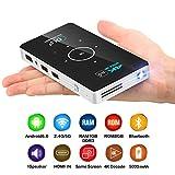 XWEM DLP Mini Projektor, 1080P Portable Office HD Wireless 1 + 8G 3D Projektor Für Home Entertainment, Spiele