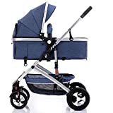 Kaysa-TS High Landscape Stroller, Reisesystem, Body 4 Wheel Suspension System Faltbar, geeignet für 0-36 Monate Baby