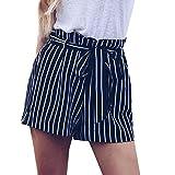 1c16f2115c13f3 Shorts Damen Sommer Btruely Mitte Waist Shorts Frau Streifen Strandshorts  Sommer Mini Hot Hosen Lose Shorts
