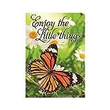 Garten Flaggen Tanzende Schmetterlinge und Blumen Duftende Spring draußen, Flaggen doppelseitig Wasserdicht und farbbeständig bedruckt Banner 31,8x 45,7cm 100% Polyester, Polyester, multi9, 28x40 Inch
