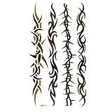 King Horse Wasserdicht und Schweiß der vier bildgebenden Rankenmuster Tattoo Sticker für Männer und Frauen