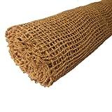 Hochwertige Ufermatte Böschungsmatte von Aquagart I 50m Kokosgewebe Kokosfaser-Matte 1m breit Kokosmatte für Pflanzen I Teichrand Pflanzen Wurzel-Schutz Kokosgeflecht Hangsicherung Bewuchsmatte
